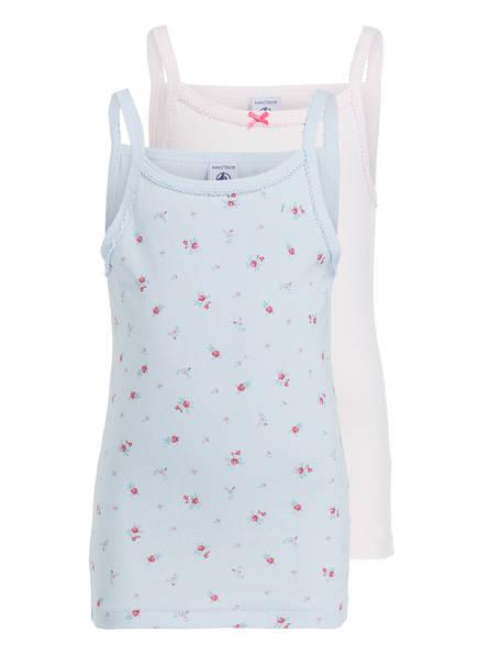 PETIT BATEAU 2er-Pack Unterhemden, Farbe: ROSA/ HELLBLAU (Bild 1)