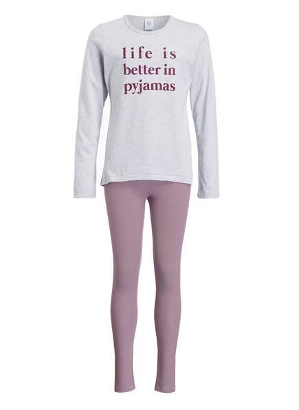 Sanetta Schlafanzug, Farbe: HELLGRAU MELIERT/ FUCHSIA (Bild 1)