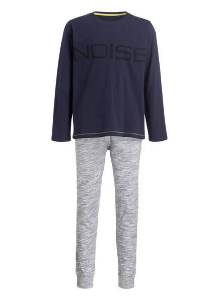 Sanetta Schlafanzug, Farbe: DUNKELBLAU/ GRAU  (Bild 1)
