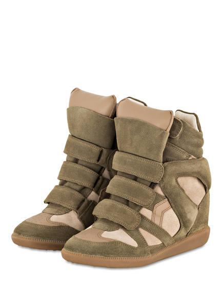 ISABEL MARANT Sneaker-Wedges BEKETT, Farbe: TAUPE (Bild 1)