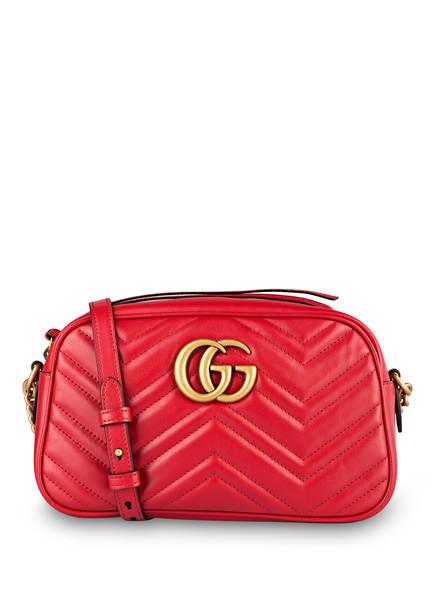 GUCCI Umhängetasche GG MARMONT SMALL, Farbe: HIBISCUS RED (Bild 1)