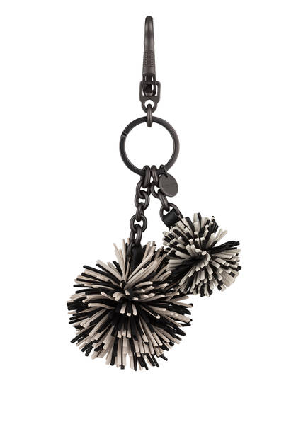 BOTTEGA VENETA Schlüssel- und Taschenanhänger, Farbe: SCHWARZ/ WEISS (Bild 1)