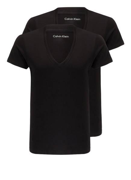 Calvin Klein 2er-Pack V-Shirts, Farbe: SCHWARZ (Bild 1)