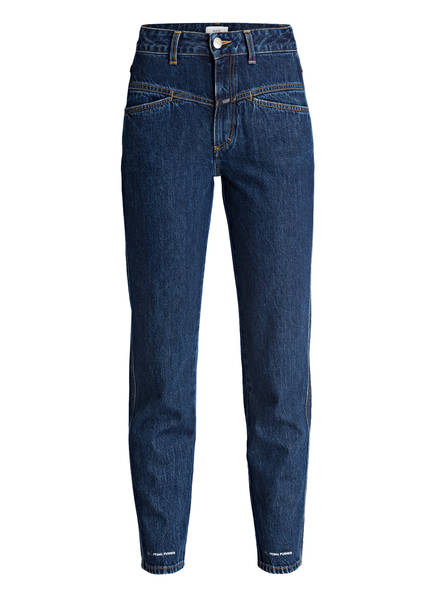 CLOSED Mom-Jeans PEDAL PUSHER, Farbe: QQ BLUE MARBLE WASH (Bild 1)