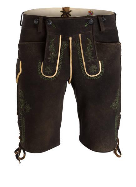 MEINDL Trachten-Lederhose , Farbe: DUNKELBRAUN (Bild 1)