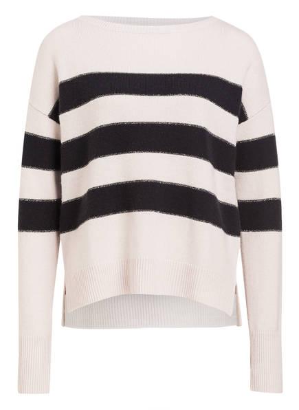HEMISPHERE Cashmere-Pullover , Farbe: HELLGRAU/ SCHWARZ GESTREIFT (Bild 1)