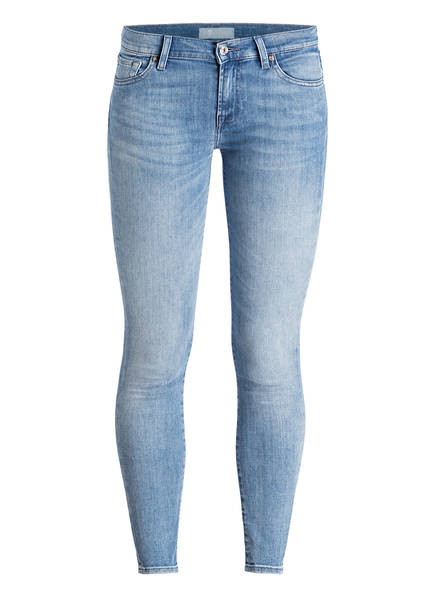 7 for all mankind 7/8-Jeans THE SKINNY CROP, Farbe: BAIR MIRAGE BLUE (Bild 1)