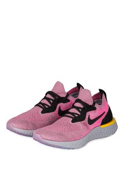Nike Laufschuhe EPIC REACT FLYKNIT, Farbe: PINK/ SCHWARZ/ GELB (Bild 1)