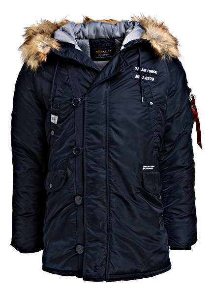 low priced 5e427 5ecb6 Parka N3B AIRBORNE mit Felloptik-Besatz