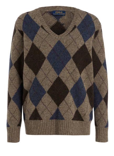 18d42aeb8f7e POLO RALPH LAUREN Pullover, Farbe HELLBRAUN  BLAU  BRAUN (Bild 1)