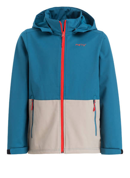me°ru' Softshell-Jacke BREST, Farbe: PETROL/ BEIGE (Bild 1)