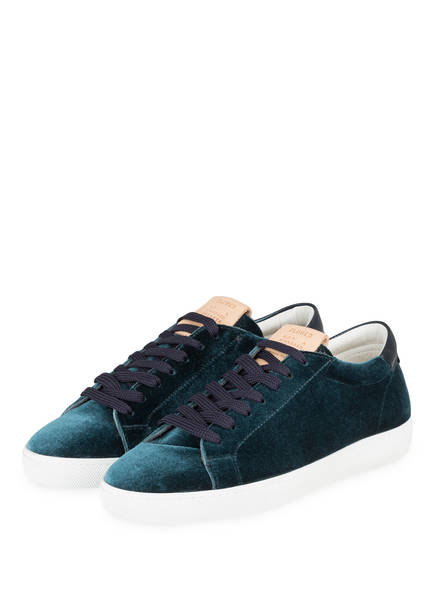 CLOSED Samt-Sneaker, Farbe: PETROL (Bild 1)