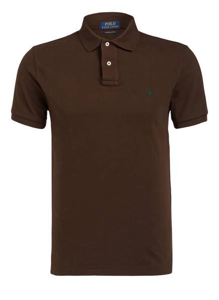POLO RALPH LAUREN Piqué-Poloshirt Custom Slim Fit, Farbe: BRAUN (Bild 1)