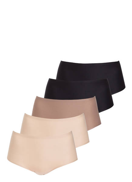 Chantelle 5er-Pack Taillenslips SOFTSTRETCH, Farbe: SCHWARZ/ NUDE/ TAUPE (Bild 1)
