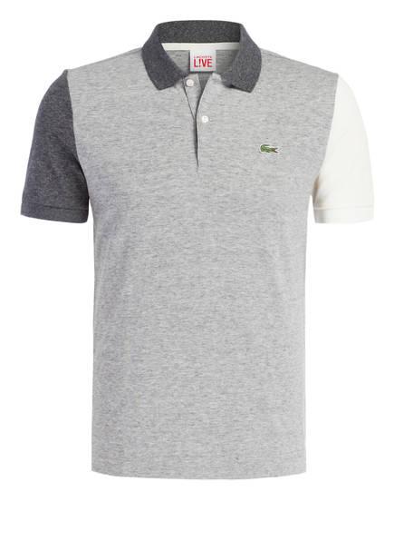 LACOSTE L!VE Piqué-Poloshirt Ultraslim Fit, Farbe: HELLGRAU/ ECRU (Bild 1)