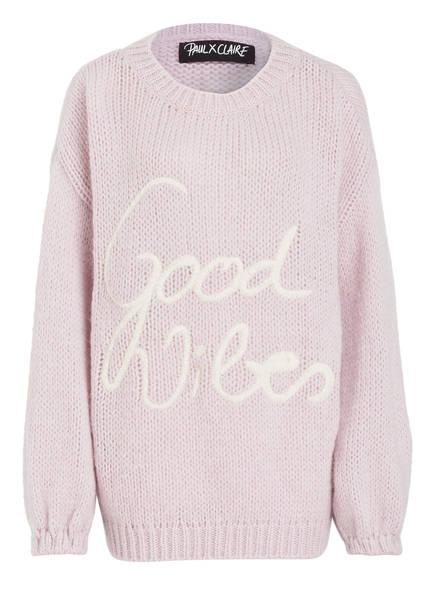PAUL X CLAIRE Pullover GOOD VIBES, Farbe: ROSÉ (Bild 1)