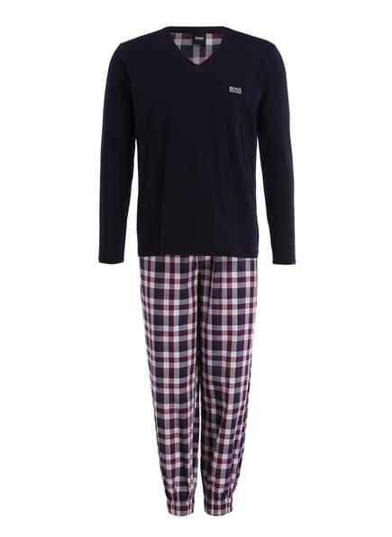 schlafanzug von boss bei breuninger kaufen  boss schlafanzug, farbe dunkelblau hellgrau lila (bild 1)