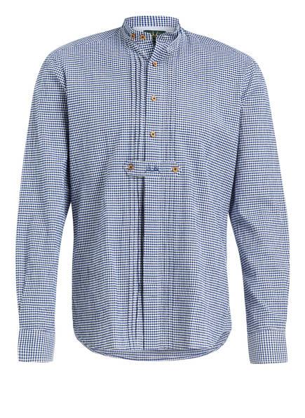 Wiesnkönig Trachtenhemd MAX Slim Fit, Farbe: BLAU/ WEISS (Bild 1)