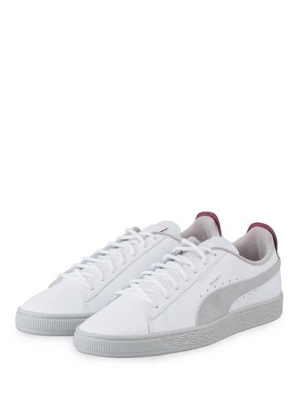 PUMA Sneaker FERRARI BASKET LS, Farbe: WEISS/ GRAU (Bild 1)