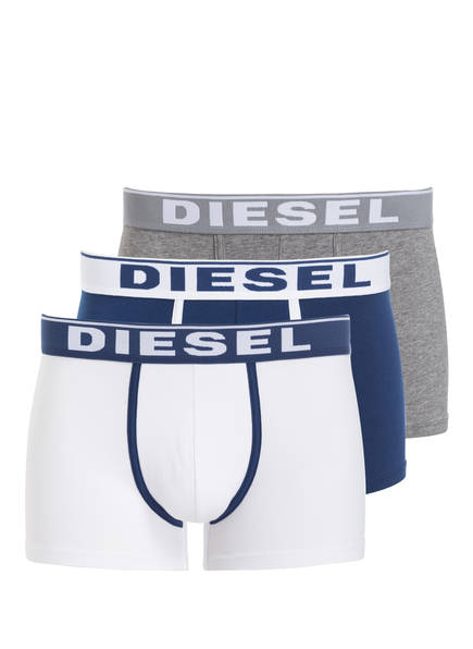 DIESEL 3er-Pack Boxershorts DAMIEN, Farbe: DUNKELBLAU/ WEISS/ GRAU MELIERT (Bild 1)