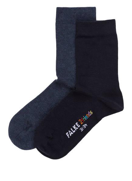 FALKE 2er-Pack Socken 2FRIENDS, Farbe: DUNKELBLAU/ BLAU (Bild 1)