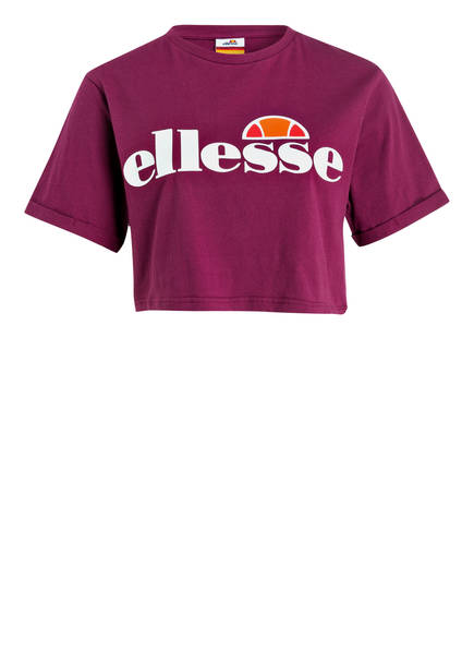 Ellesse Cropped-Shirt Alberta rot