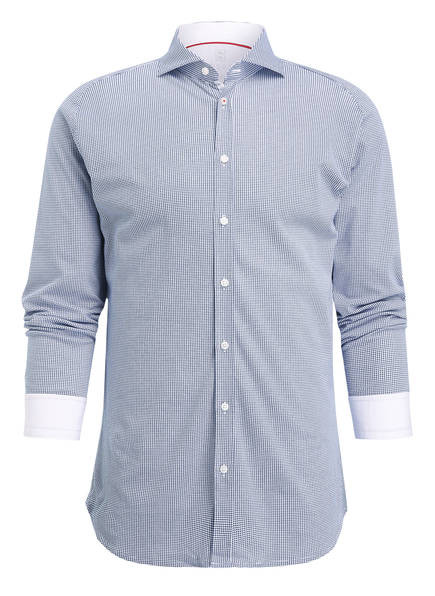 DESOTO Jerseyhemd Slim Fit, Farbe: BLAU/ WEISS (Bild 1)