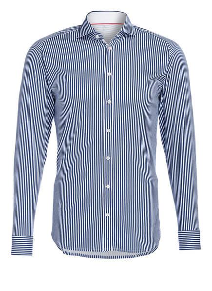 DESOTO Jerseyhemd Slim Fit, Farbe: DUNKELBLAU/ WEISS GESTREIFT (Bild 1)