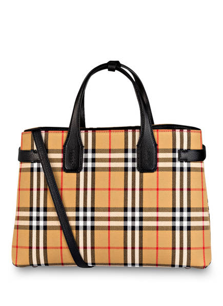 BURBERRY Handtasche THE BANNER MEDIUM , Farbe: VINTAGE CHECK/ SCHWARZ (Bild 1)