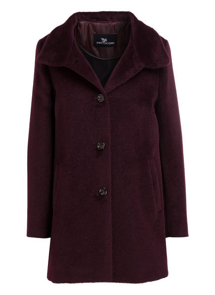 SAINT JACQUES Mantel mit Alpaka-Anteil, Farbe: DUNKELLILA (Bild 1)