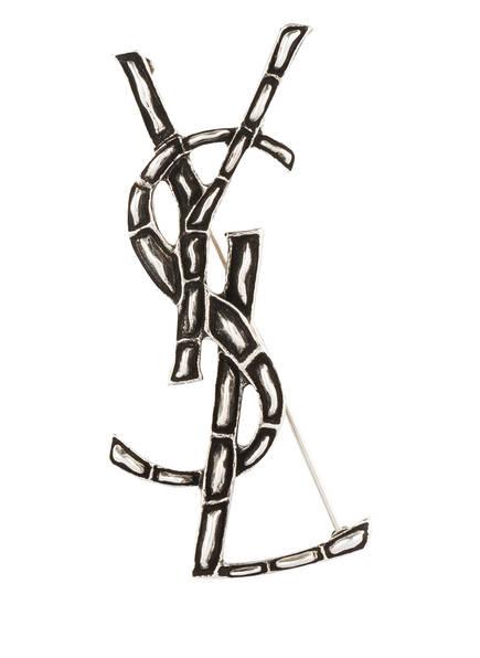 SAINT LAURENT Brosche OPYUM, Farbe: SCHWARZ/ SILBER (Bild 1)