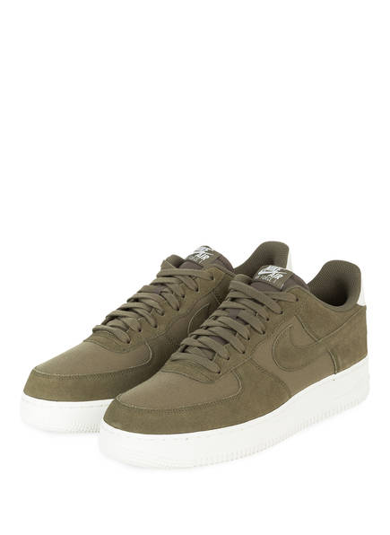 Nike Sneaker AIR FORCE 1 `07 SUEDE, Farbe: OLIV (Bild 1)