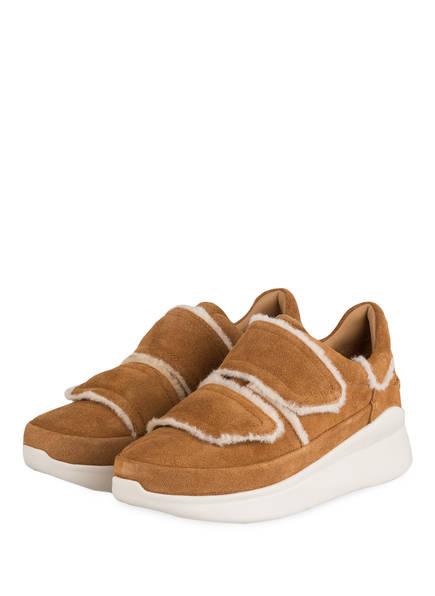 UGG Sneaker ASHBY SPILL SEAM, Farbe: CAMEL (Bild 1)