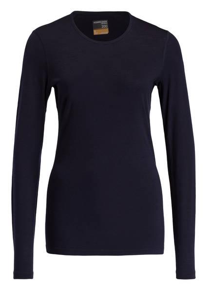 icebreaker Funktionswäsche-Shirt 200 OASIS aus Merinowolle, Farbe: DUNKELBLAU (Bild 1)