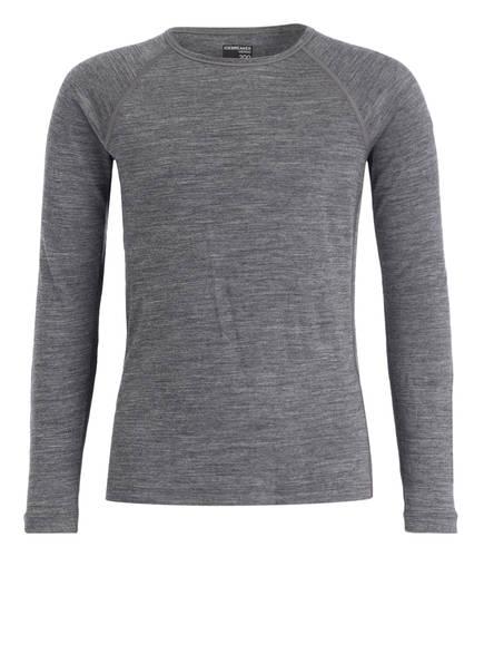 icebreaker Funktionswäsche-Shirt 200 OASIS aus Merinowolle, Farbe: GRAU MELIERT (Bild 1)