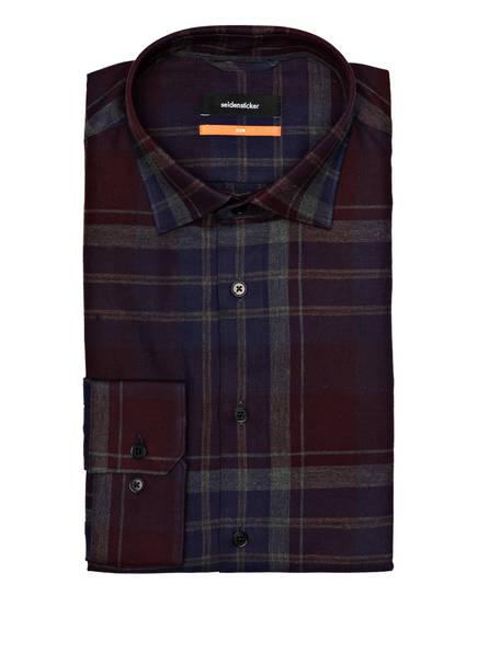 seidensticker Hemd Slim Fit, Farbe: BLAU/ GRAU/ DUNKELROT KARIERT (Bild 1)