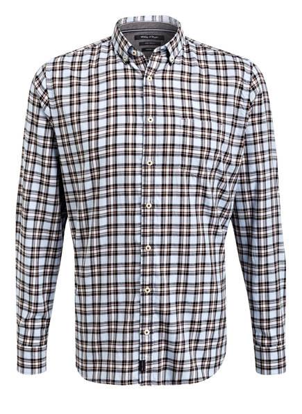 Marc O'Polo Hemd Shaped Fit, Farbe: HELLBLAU/ SCHWARZ/ BRAUN KARIERT (Bild 1)