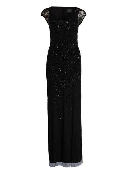 ADRIANNA PAPELL Abendkleid mit Spitzenbesatz, Farbe: SCHWARZ (Bild 1)