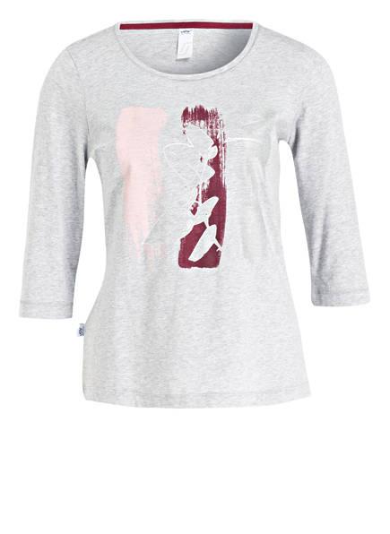 JOY sportswear Shirt ABBIE mit 3/4-Arm, Farbe: HELLGRAU MELIERT/ ROT (Bild 1)