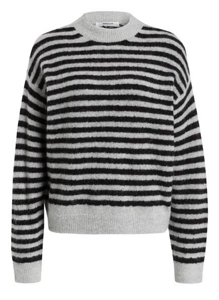 MOSS COPENHAGEN Pullover DENNA, Farbe: SCHWARZ/ HELLGRAU (Bild 1)
