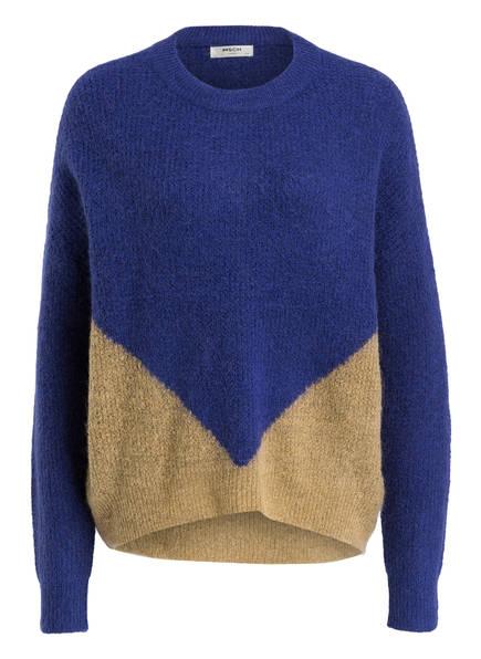 MOSS COPENHAGEN Pullover AYA, Farbe: BLAU/ CAMEL (Bild 1)