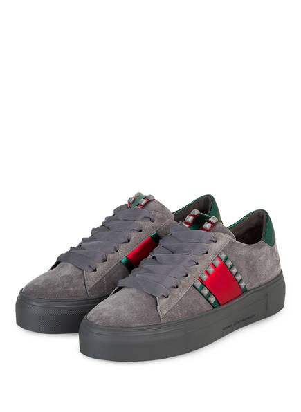 KENNEL & SCHMENGER Plateau-Sneaker BIG, Farbe: GRAU/ GRÜN (Bild 1)