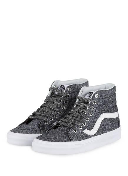 sneaker Grau Sk8 Silber Hightop Vans hi qwfg55