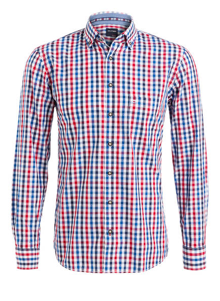 OLYMP Trachtenhemd , Farbe: WEISS/ BLAU/ ROT KARIERT (Bild 1)