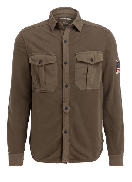 TRUE RELIGION Jersey-Hemd Regular Fit, Farbe: OLIV (Bild 1)