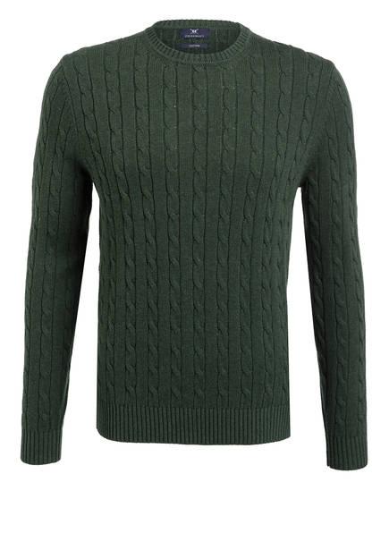 STROKESMAN'S Pullover mit Zopfmuster, Farbe: GRÜN (Bild 1)