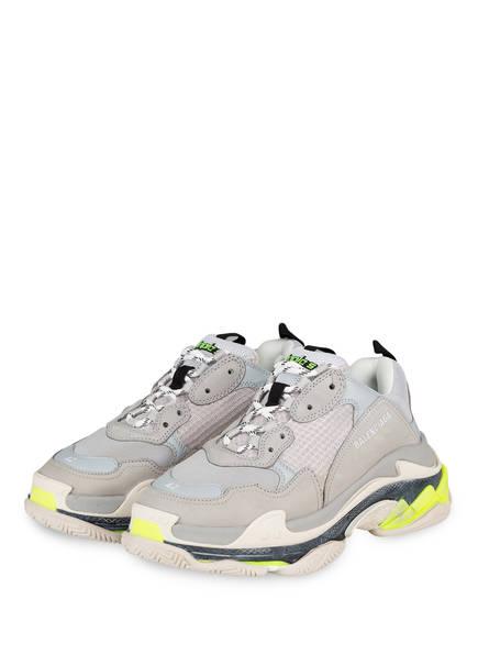 BALENCIAGA Sneaker TRIPLE S, Farbe: GRAU/ GELB (Bild 1)