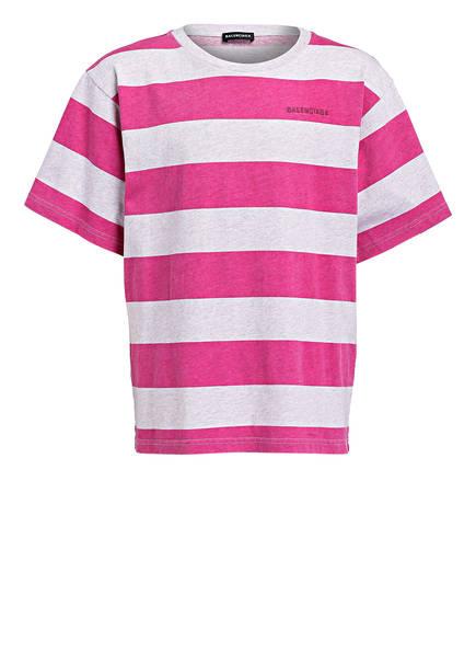 BALENCIAGA T-Shirt , Farbe: HELLGRAU/ PINK GESTREIFT (Bild 1)