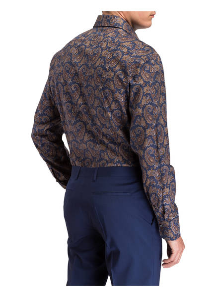 Dunkelbraun Laack Fit Hemd Mivara Blau Tailor Van 7HPwf