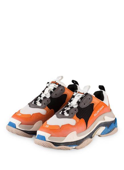 BALENCIAGA Sneaker TRIPLE S, Farbe: ORANGE/ GRAU/ CREME (Bild 1)